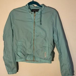 Teal bomber jacket members only